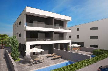 EXCLUSIVE APARTMENT IN NEW URBAN VILLA, 90 M FROM THE BEACH!