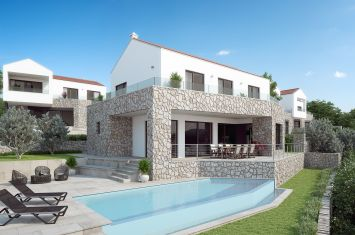 NEW EXCLUSIVE STONE VILLA WITH POOL AND PANORAMIC SEA VIEW!