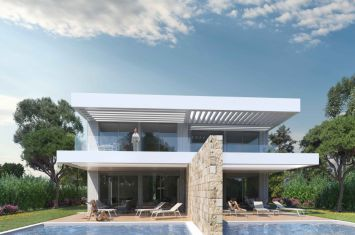 EXCLUSIVE VILLA WITH POOL AND SEA VIEW, 100 M FROM THE BEACH!