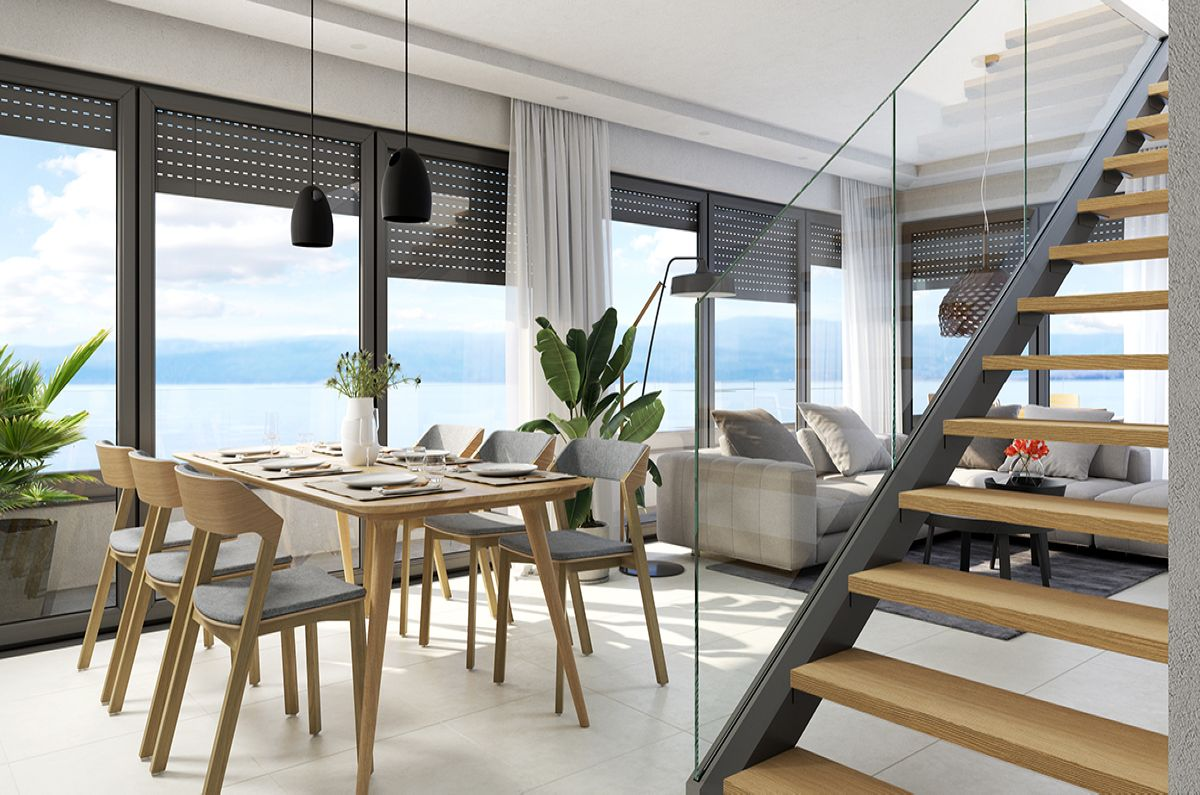 Apartments - Malinska - EXCLUSIVE APARTMENT WITH ROOF TERRACE AND PANORAMIC SEA VIEW!